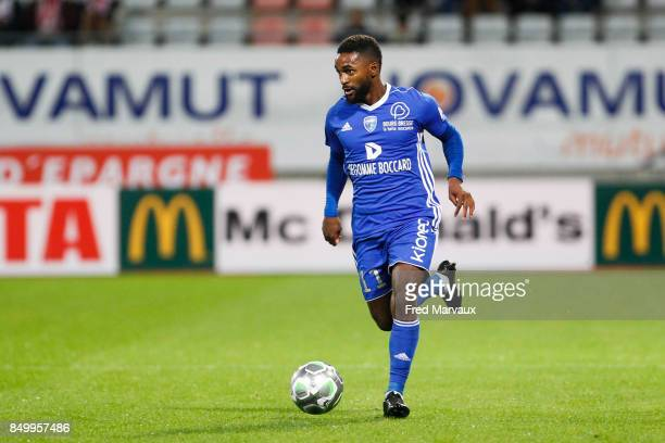 Vital Nsimba of Bourg en Bresse during the French Ligue 2 mach between Nancy and Bourg en Bresse at on September 19 2017 in Nancy France