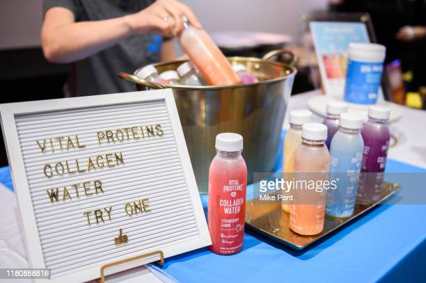 Vital Proteins Collagen Water on display at Four Roses Bourbon's Broadway Tastes presented by iHeartRadio Broadway hosted by Alex Brightman with...
