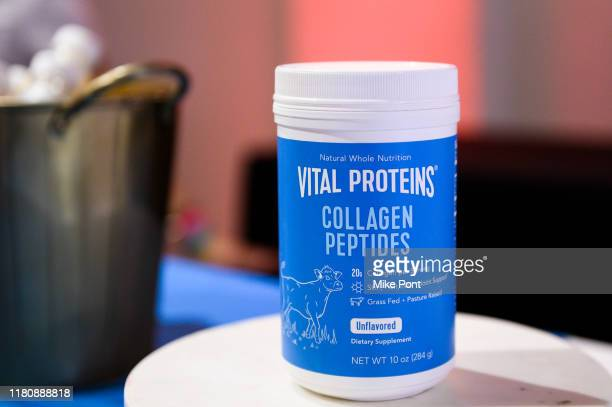 Vital Proteins products on display at Four Roses Bourbon's Broadway Tastes presented by iHeartRadio Broadway hosted by Alex Brightman with special...