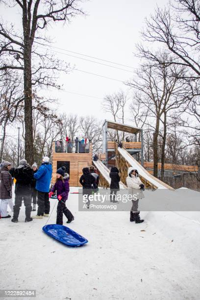 vital sledding - tobogganing stock pictures, royalty-free photos & images