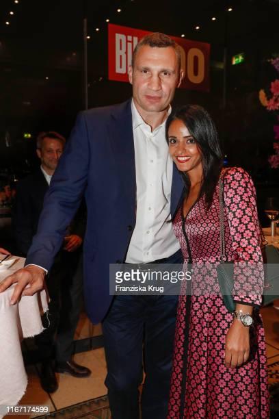 Vitali Klitschko and Sawsan Chebli during the Bild 100 summer party on September 9 2019 in Berlin Germany