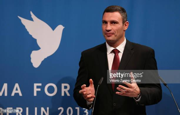 Vitali Klitschko during the Cinema For Peace Gala Ceremony at the 63rd Berlinale International Film Festival at the Waldorf Astoria Hotel on February...