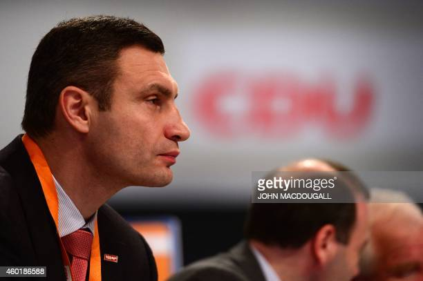 Vitali Klitschko former professional boxer and current mayor of the Ukraine's capital Kiev attends the conservative Christian Democratic Union's...