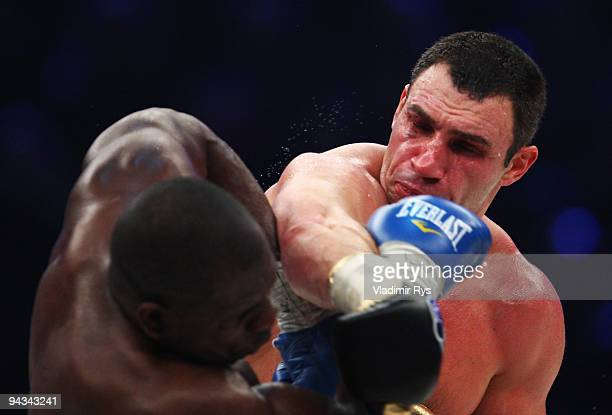 Vitali Klitschko of Ukraine and Kevin Johnson of the USA fight for the WBC World Championship Heavyweight title at Postfinance-Arena on December 12,...