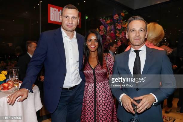 Vitali Klitschko Sawsan Chebli and Heiko Maas during the Bild 100 summer party on September 9 2019 in Berlin Germany