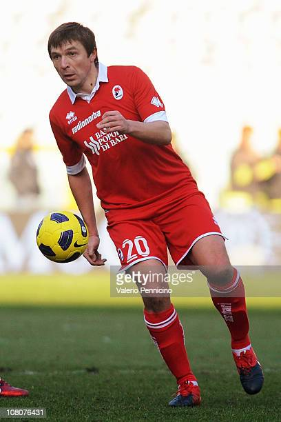 Vitali Kutuzov of AS Bari in action during the Serie A match between Juventus FC and AS Bari at Olimpico Stadium on January 16, 2011 in Turin, Italy.