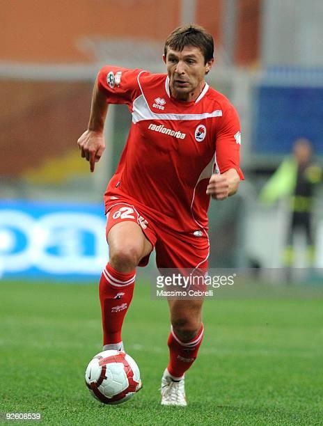 Vitali Kutuzov of AS Bari in action during the Serie A match between UC Sampdoria and AS Bari at Stadio Luigi Ferraris on November 1, 2009 in Genoa,...