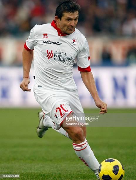 Vitali Kutuzov of Bari in action during the Serie A match between Bari and Milan at Stadio San Nicola on November 7, 2010 in Bari, Italy.