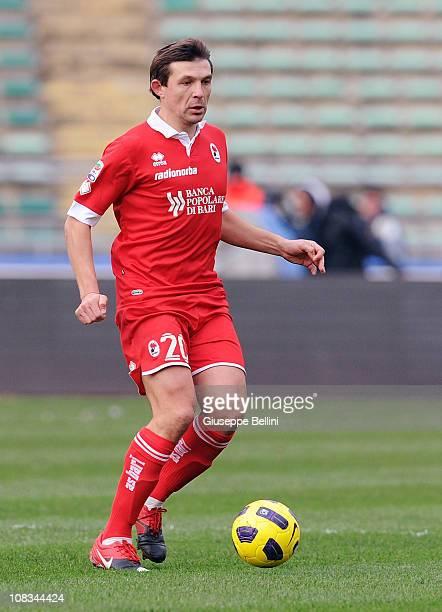 Vitali Kutuzov of Bari in action during the Serie A match between Bari and Napoli at Stadio San Nicola on January 23, 2011 in Bari, Italy.