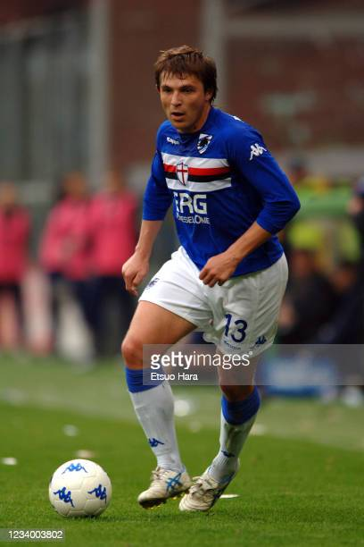 Vitali Kutuzov of Sampdoria in action during the Serie A match between Sampdoria and Parma at the Stadio Luigi Ferraris on April 15, 2006 in Genoa,...