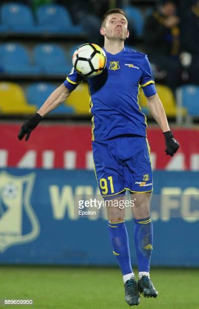 Vitali Ustinov of FC Rostov RostovonDon in action during the Russian Premier League match between FC Rostov RostovonDon v FC Ufa at Olymp 2 Stadium...