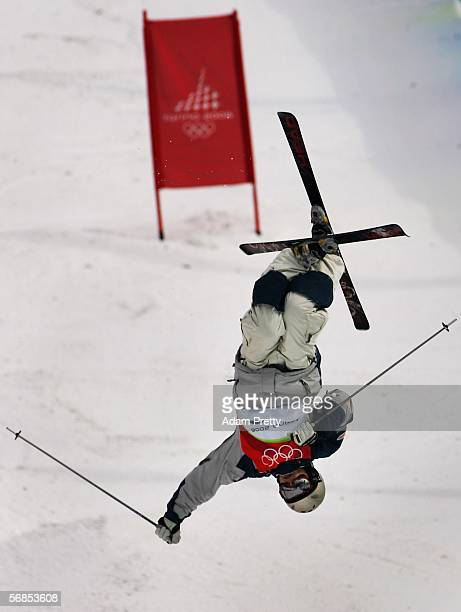 Vitaly Glushchenko of Russia competes in the Mens Freestyle Skiing Moguls Qualifying on Day 5 of the 2006 Turin Winter Olympic Games on February 15...