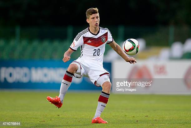 Vitaly Janelt of Germany U17 in action during the UEFA European Under17 Championship Semi Final match between Germany U17 and Russia U17 at Beroe...
