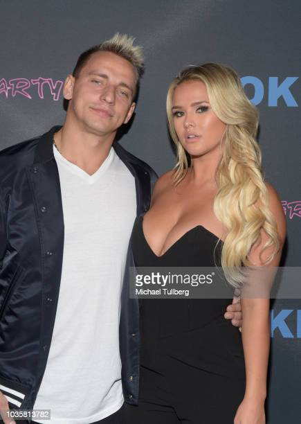 Vitaly Zdorovetskiy and Kinsey Wolanski attend the premiere party for LookHu's Slasher Party at ArcLight Hollywood on September 18 2018 in Hollywood...