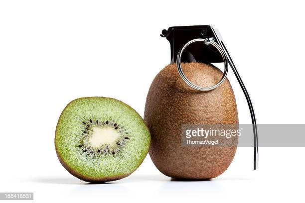 vitamin bomb - kiwi grenade fruit - hand grenade stock pictures, royalty-free photos & images