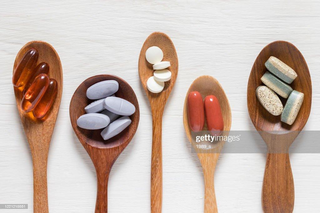 Vitamin pills : Stock Photo