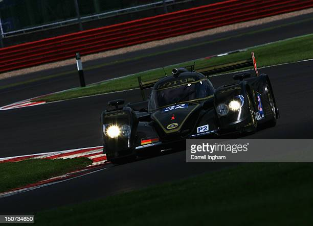 Vitantonio Liuzzi of Italy drives the Lotus Lola B12/80 Coupe during practice for the FIA World Endurance Championship 6 Hours of Silverstone race at...