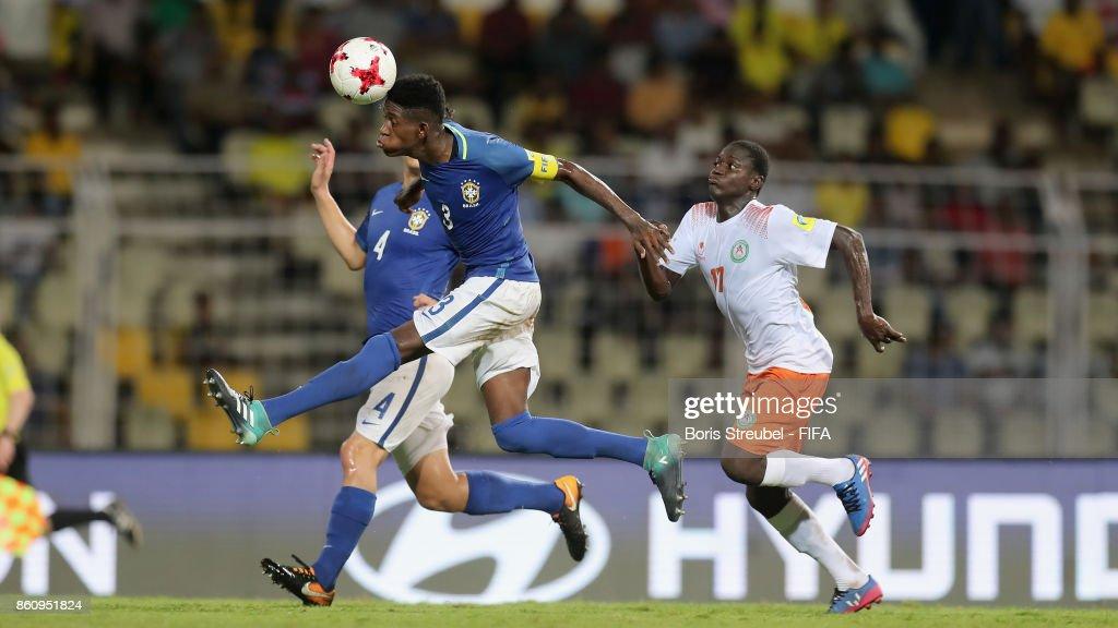 Vitao of Brazil is challenged by Ibrahim Boubacar of Niger
