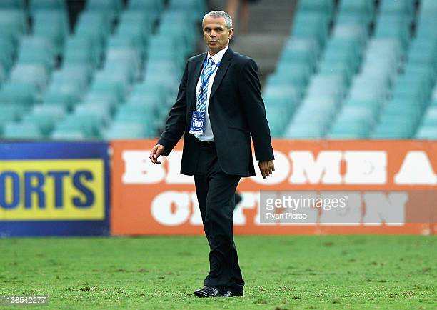 Vitezslav Lavicka manager of Sydney FC looks dejected after the round 14 ALeague match between Sydney FC and the Central Coast Mariners at the Sydney...