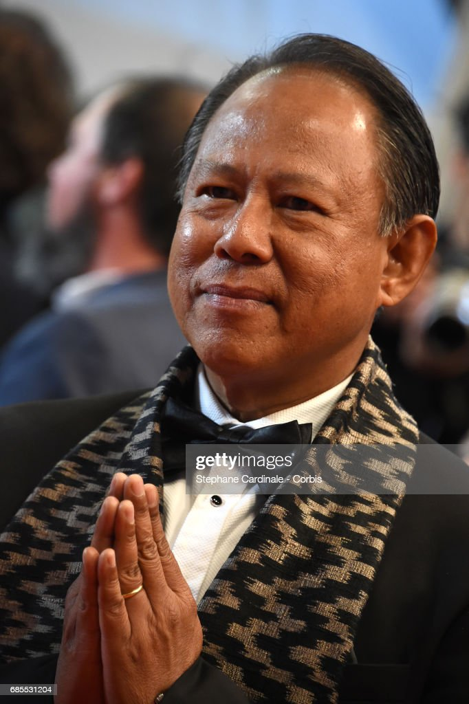 Vithaya Pansringarm attends the 'A Prayer Before Dawn' premiere during the 70th annual Cannes Film Festival at Palais des Festivals on May 19, 2017 in Cannes, France.