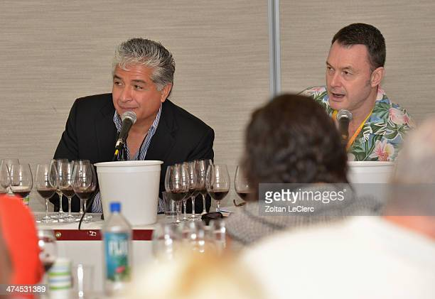 Viticultural director of Newton Vineyards Raymond Reyes and Senior editor and tasting director of Wine Spectator Bruce Sanderson speak at Wine...