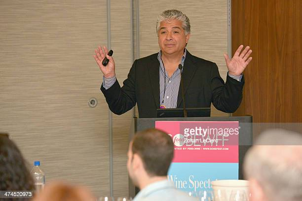 Viticultural Director of Newton Vineyards Raymond Reyes speaks at Wine Spectator Wine Seminar From Spring Mountain To The Andes A Discovery Of Newton...