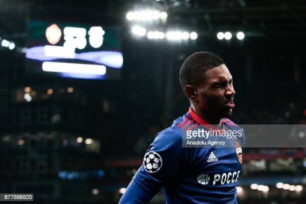 Vitinho of CSKA Moscow in action during the UEFA Champions League Group A soccer match between CSKA Moscow and Benfica at VEB Arena in Moscow Russia...