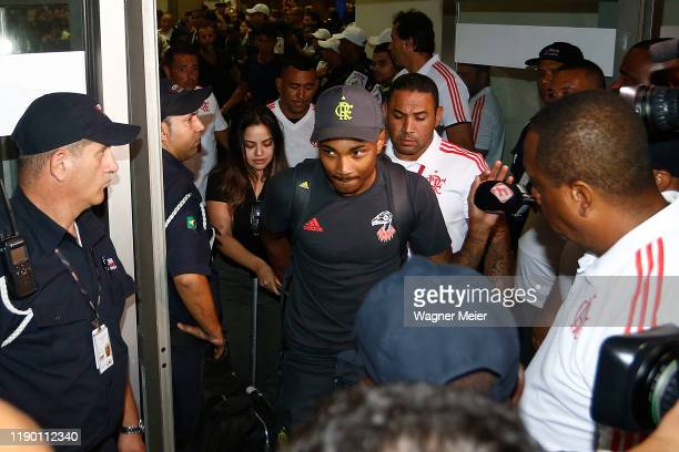 Vitinho of Flamengo team arrives in Rio after playing the FIFA Club World Cup Qatar 2019 Final Against Liverpool on December 22 2019 in Rio de...