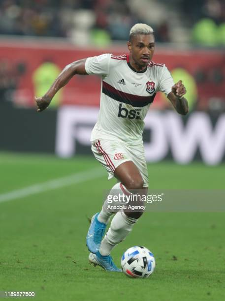 Vitinho of Liverpool in action during the FIFA Club World Cup Qatar 2019 Final match between Liverpool FC and CR Flamengo at Khalifa International...