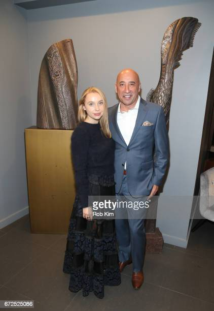 Vito Bacarella and Iryna Ivanova attend the St Sava Fundraising Fashion Show at Domenico Vacca Club New York on April 24 2017 in New York City