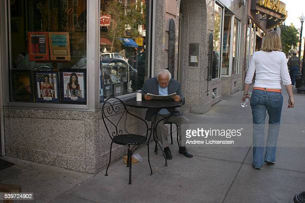 Vito Bruno an elderly North End resident can be found every day on Hanover Street reading the paper outside Cafe Vittoria Boston's North End is the...