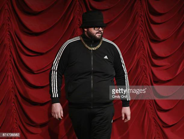 Vito Calise takes part in SiriusXM host Ron Bennington's annual Thanksgiving Special at Hard Rock Cafe Times Square on November 14 2017 in New York...