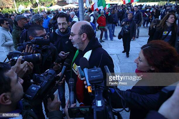 Vito Crimi during walk organized by the Movimento CinqueStelle to say NO to the Constitutional Referendum on December 4.