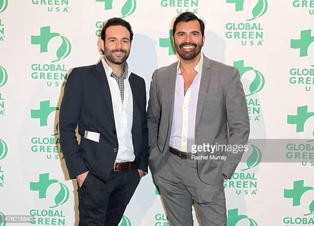 Vito Esposito and Luigi Irauzqui attend the Global Green USA 19th Annual Millennium Awards on June 6 2015 in Century City California
