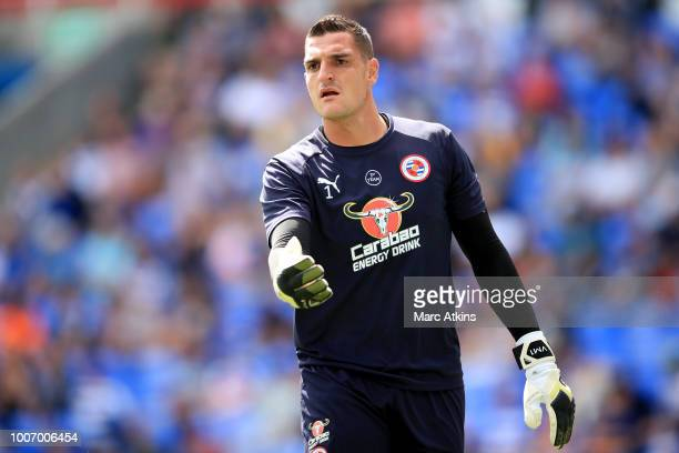 Vito Mannone of Reading during the PreSeason Friendly between Reading and Crystal Palace at Madejski Stadium on July 28 2018 in Reading England