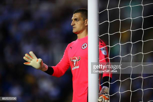 Vito Mannone of Reading during the Sky Bet Championship match between Reading and Aston Villa at Madejski Stadium on August 15 2017 in Reading England