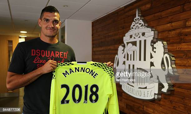 Vito Mannone pictured after signing a new two year deal with Sunderland AFC at The Academy of Light on July 4 2016 in Sunderland England