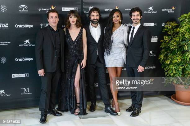 Vito Sanz Vicky Luego Mateo Gil Berta Vazquez and Chino Marin attend Opening Day Red Carpet Malaga Film Festival 2018 on April 13 2018 in Malaga Spain