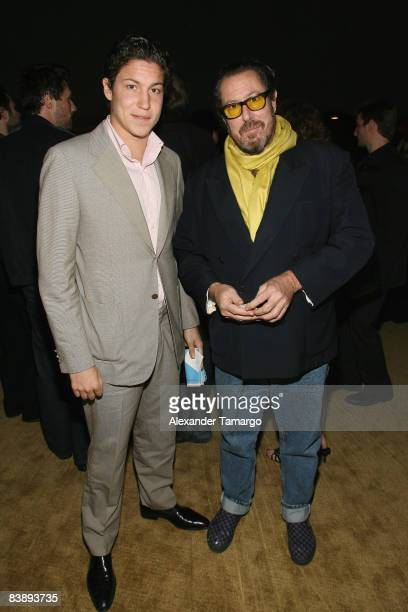 Vito Schnabel and Director Julian Schnabel attend a private dinner in honor of Anri Sala at the Cartier Dome Miami Beach Botanical Garden on December...