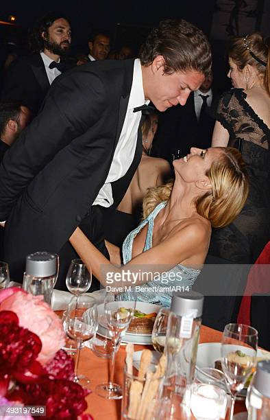 Vito Schnabel and Heidi Klum attend amfAR's 21st Cinema Against AIDS Gala presented by WORLDVIEW BOLD FILMS and BVLGARI at Hotel du CapEdenRoc on May...