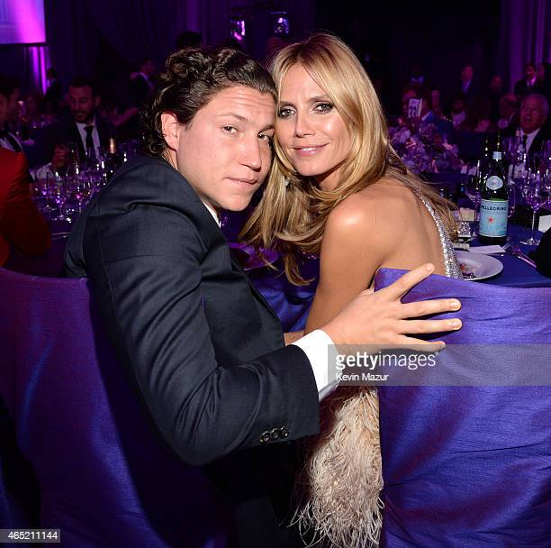 Vito Schnabel and Heidi Klum attend the 23rd Annual Elton John AIDS Foundation Academy Awards Viewing Party on February 22 2015 in Los Angeles...