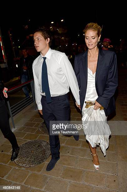 Vito Schnabel and Heidi Klum attend the Roberto Cavalli yacht party at the 67th Annual Cannes Film Festival on May 21 2014 in Cannes France