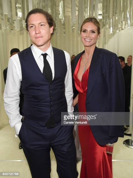 Vito Schnabel and model Heidi Klum attend Bulgari at the 25th Annual Elton John AIDS Foundation's Academy Awards Viewing Party at on February 26 2017...