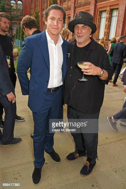Vito Schnabel and Ron Arad attend the 2017 annual VA Summer Party in partnership with Harrods at the Victoria and Albert Museum on June 21 2017 in...