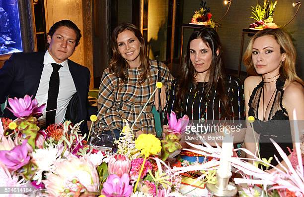 Vito Schnabel Dasha Zhukova Tatiana Casiraghi and Camilla AlFayed attend the launch of the new Venyx Oseanyx collection hosted by Eugenie Niarchos...