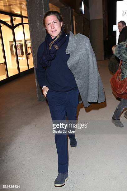 Vito Schnabel during the 'Jeff Elrod Figment' exhibition at Vito Schnabel Gallery on December 28 2016 in St Moritz Switzerland