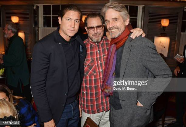 Vito Schnabel Julian Schnabel and Jeremy Irons attend an exclusive dinner hosted by Charles Finch Mulberry and PORTER Magazine for Julian Schnabel at...