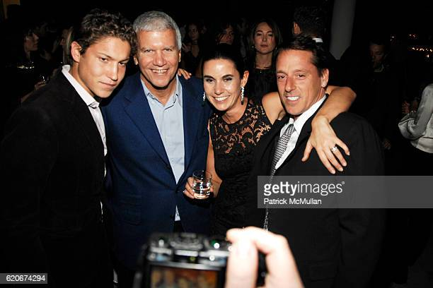 Vito Schnabel Larry Gagosian Charlotte Sarkozy and Stuart Parr attend GAGOSIAN GALLERY for what you are about to receive PRIVATE DINNER at Red...