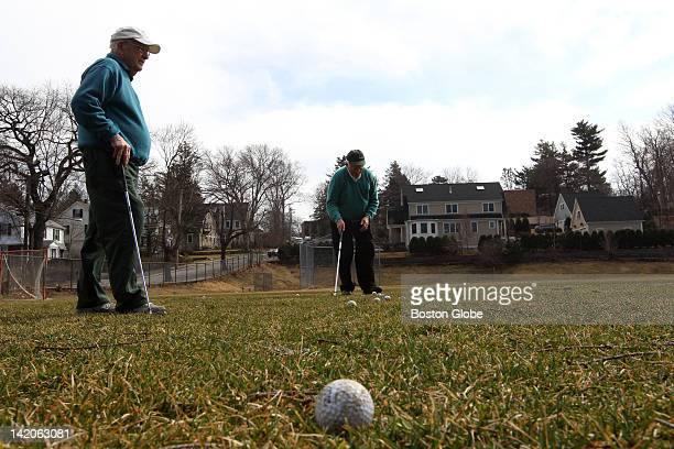 Vito Soprano and Eddy Dee both from Newton spend the afternoon hitting golfballs in a field They will hit 60 one way then hit them the other way We...