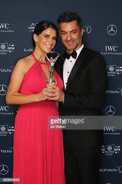 Vitor Baia and guest attend the 2014 Laureus World Sports Awards at the Istana Budaya Theatre on March 26 2014 in Kuala Lumpur Malaysia